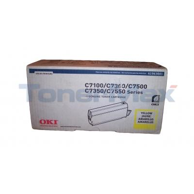 OKIDATA C7100/C7500 TYPE C4 TONER YELLOW